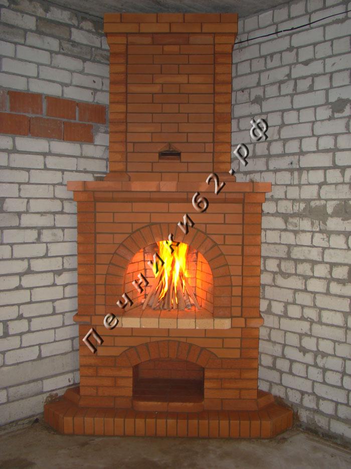 Угловая печь для дачи из кирпича своими руками